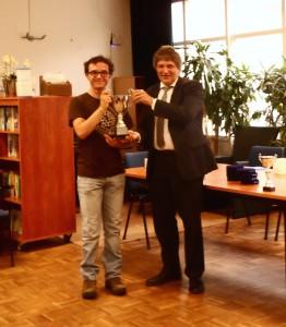Kees Pafort en Daniël Gielen met de Van `t Hofbeker